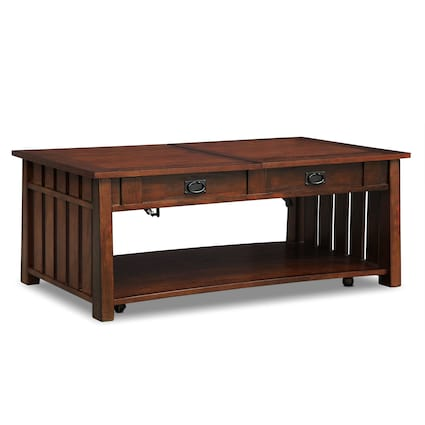 Tribute Lift-Top Coffee Table - Cherry