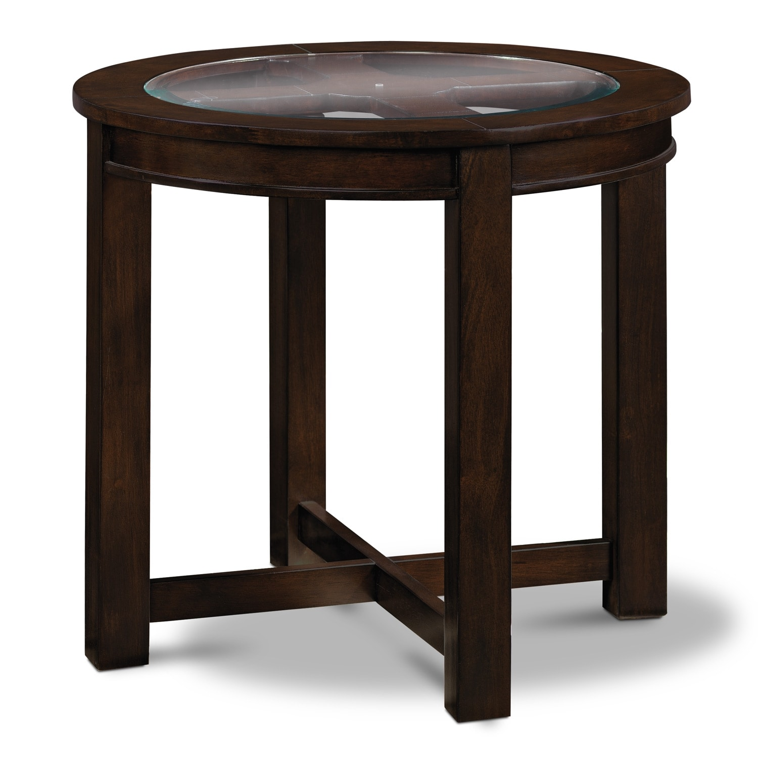 Four Corners End Table - Merlot
