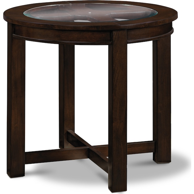 Accent and Occasional Furniture - Four Corners End Table - Merlot