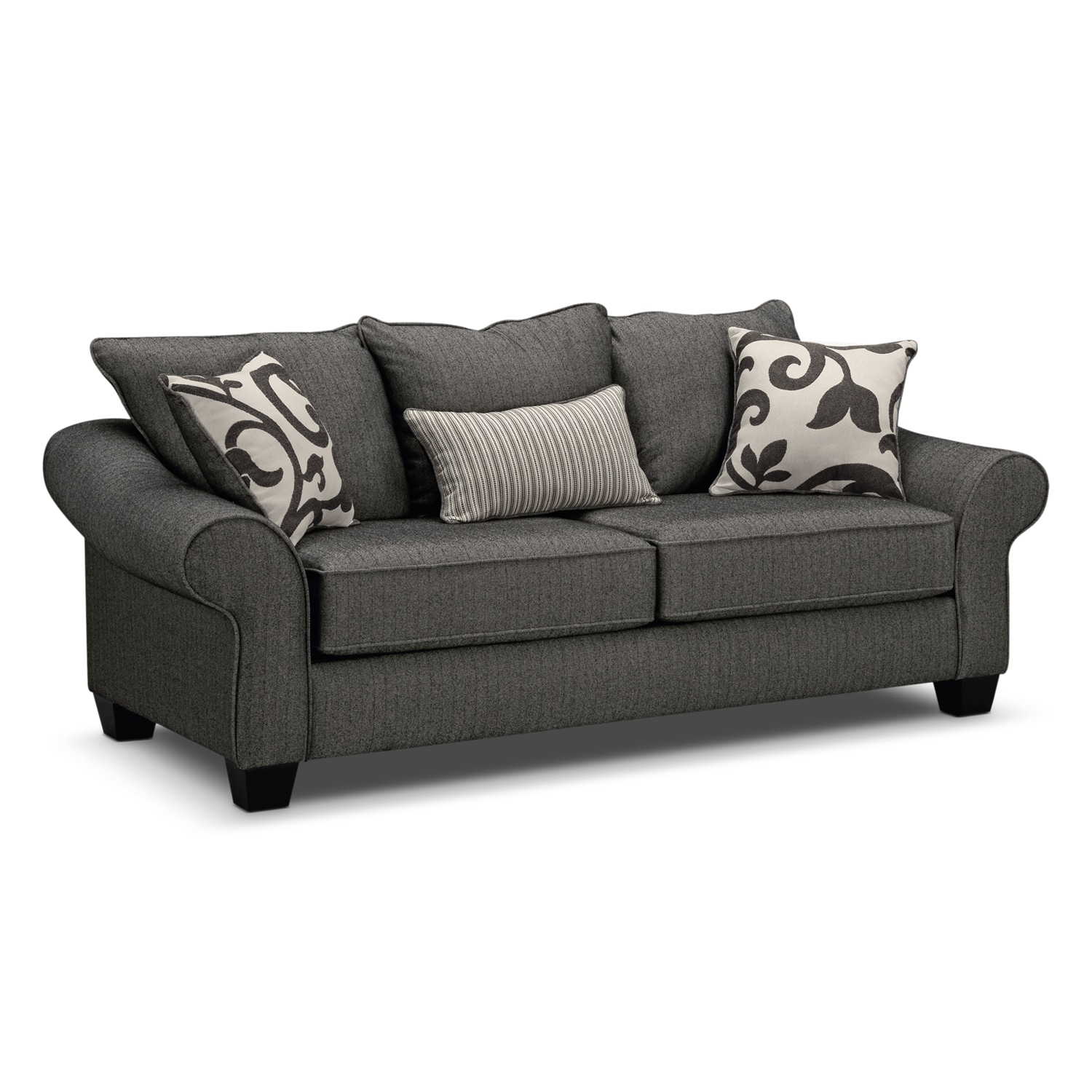 Colette sofa gray american signature furniture for Signature furniture