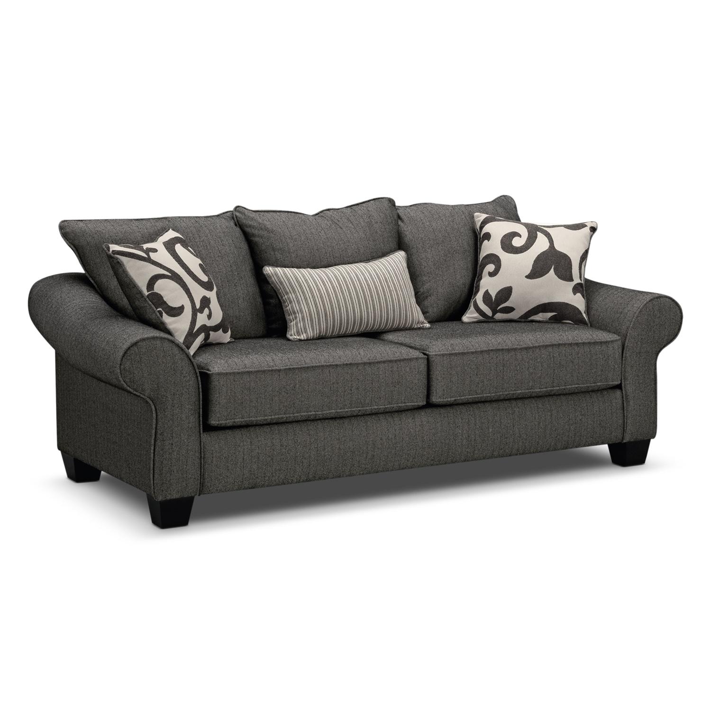 Colette Full Memory Foam Sleeper Sofa Gray American