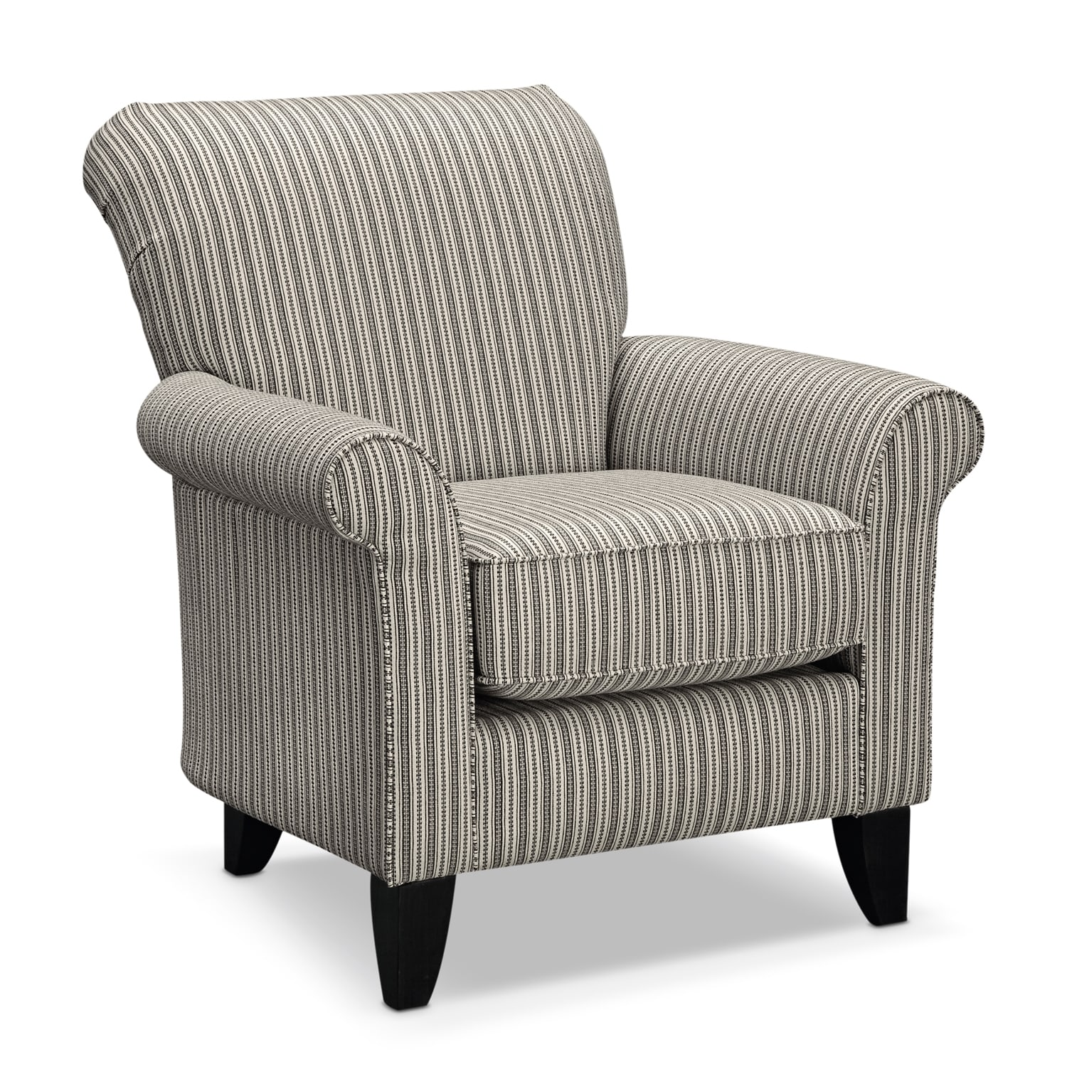 Colette Accent Chair - Gray Stripe