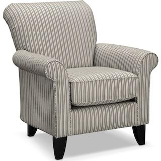Colette Accent Chair - Gray Stripe
