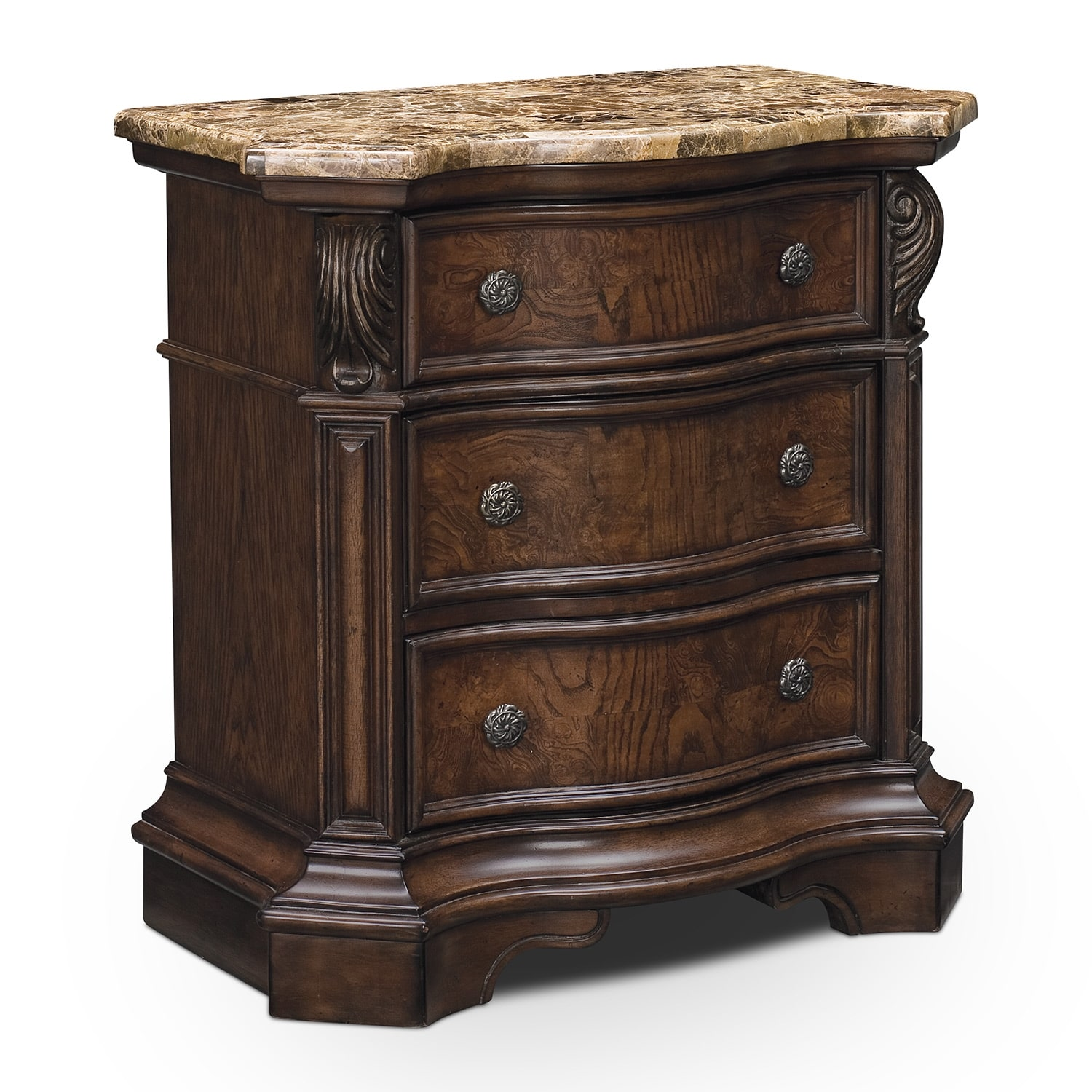 Bedroom Furniture - Monticello Nightstand - Pecan