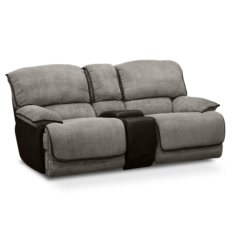 Living Room Furniture - Laguna Gliding Reclining Loveseat - Steel
