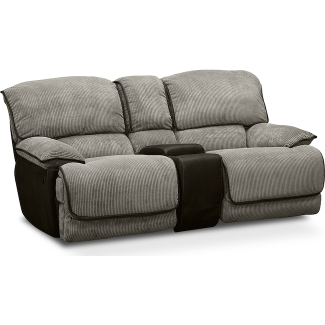 Living Room Furniture - Laguna Gliding Reclining Loveseat - Steel