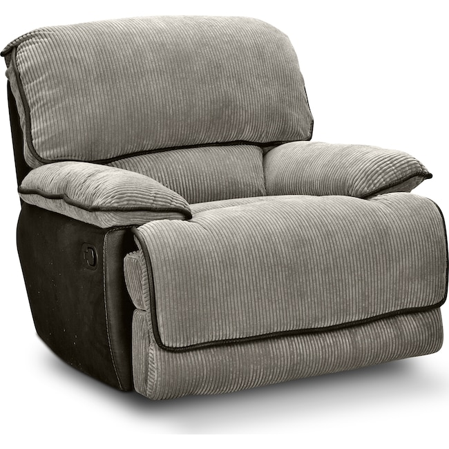 Living Room Furniture - Laguna Glider Recliner - Steel