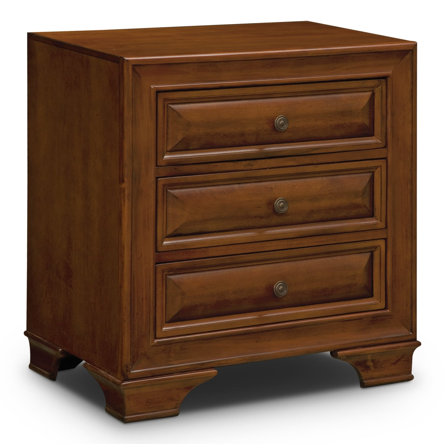 Sanibelle Nightstand Pine American Signature Furniture