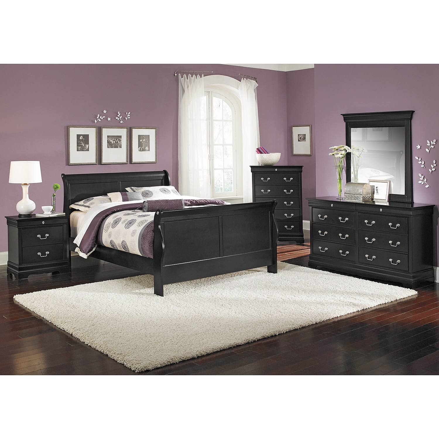 Neo Classic 7-Piece King Bedroom Set - Black