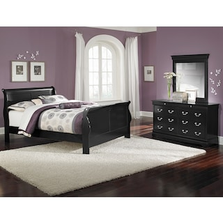 Neo Classic 5-Piece Queen Bedroom Set - Black