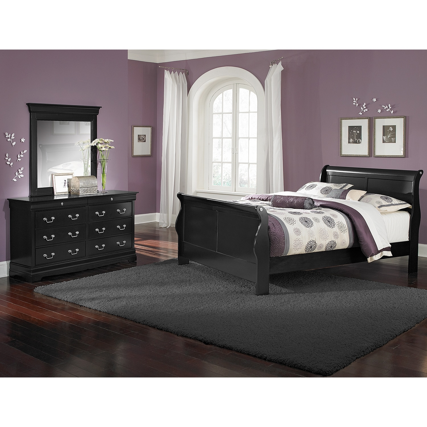 neo classic youth 5 piece twin bedroom set black american signature furniture. Black Bedroom Furniture Sets. Home Design Ideas