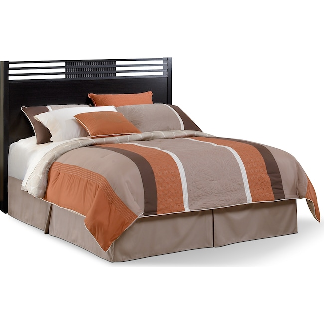 Bedroom Furniture - Bally Queen Headboard - Espresso