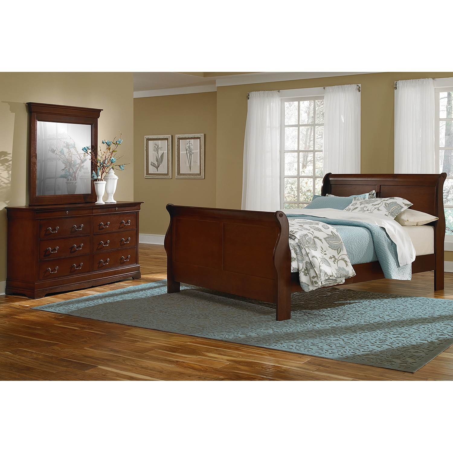 Neo classic youth 5 piece full bedroom set cherry for 5 piece bedroom set