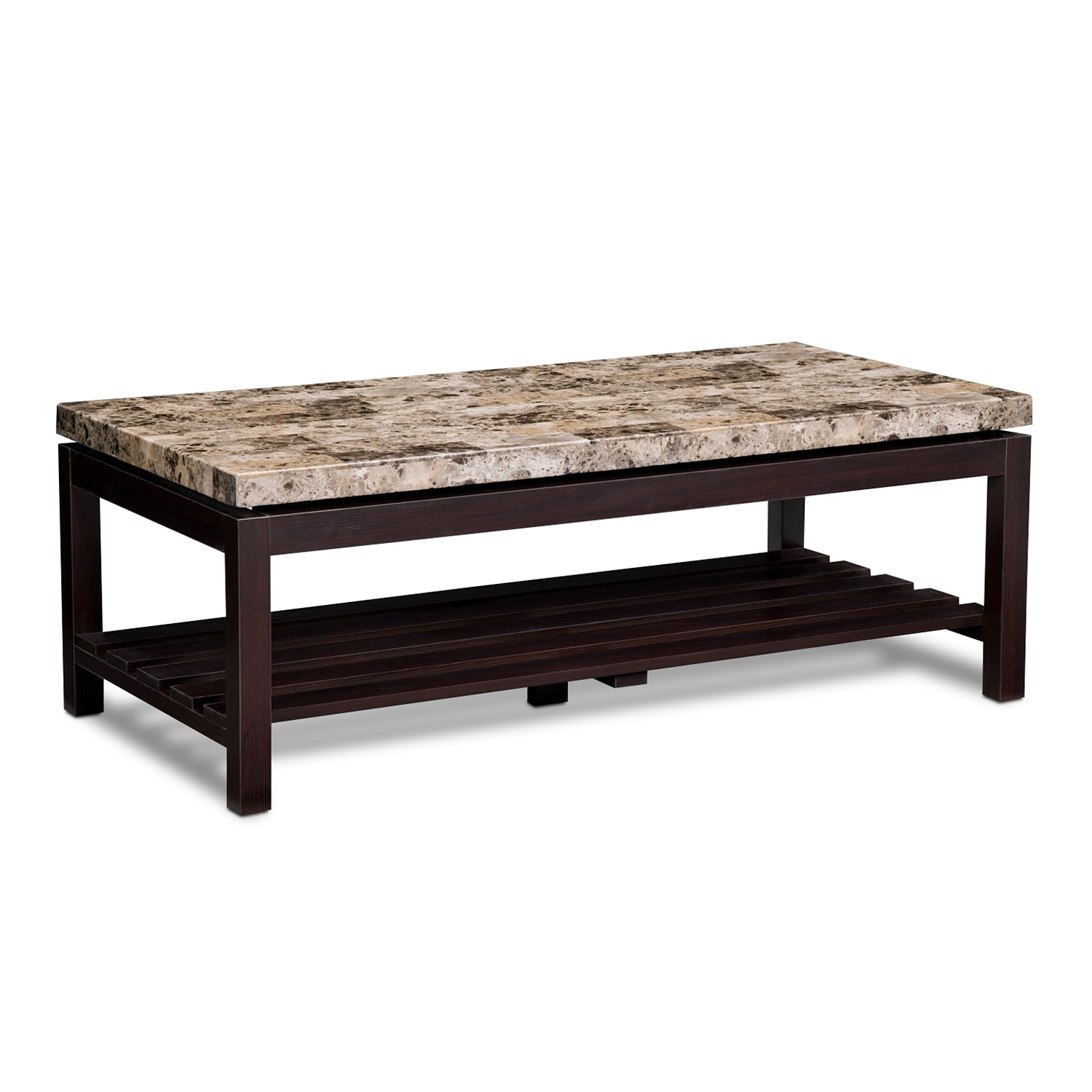 Accent and Occasional Furniture - Audra Coffee Table - Merlot