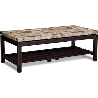 Audra Cocktail Table - Merlot