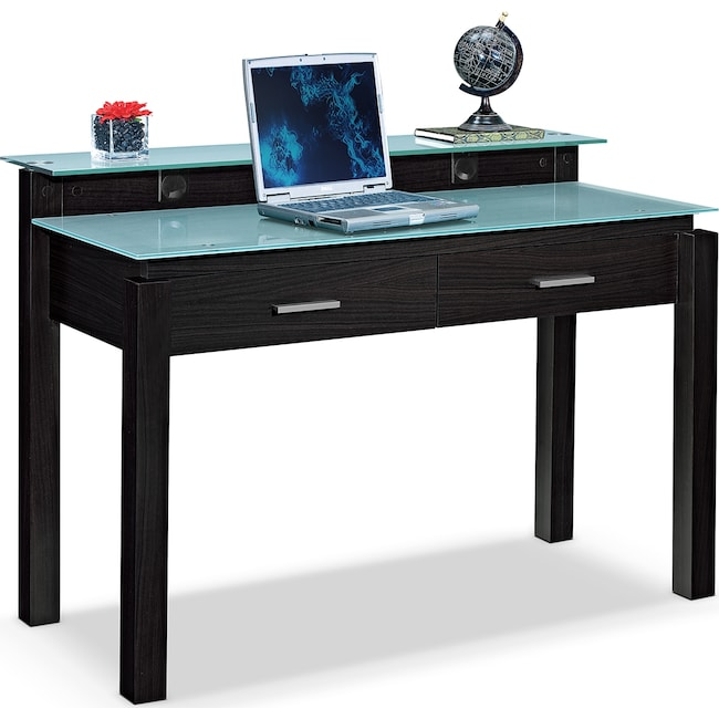 Home Office Furniture - Crescent Desk - Merlot