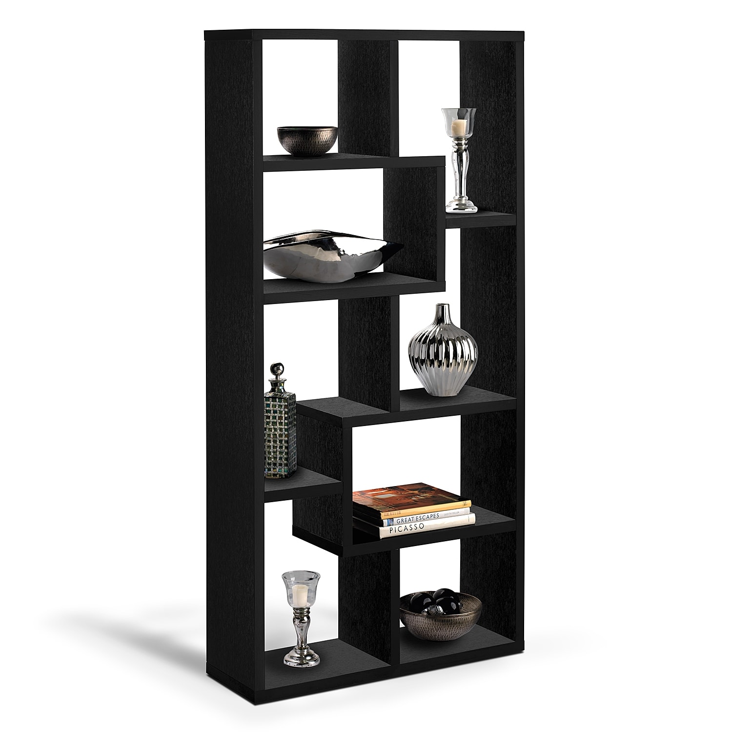 Marvelous Obsidian Bookcase   Black