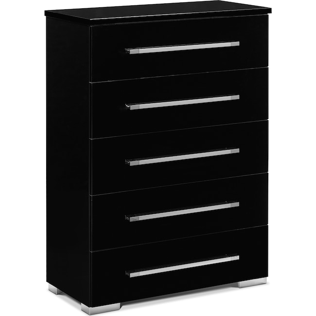 Bedroom Furniture - Dimora Chest - Black