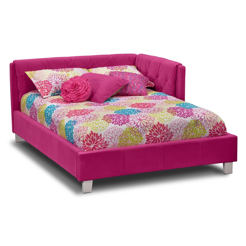 Jordan Full Corner Bed - Pink