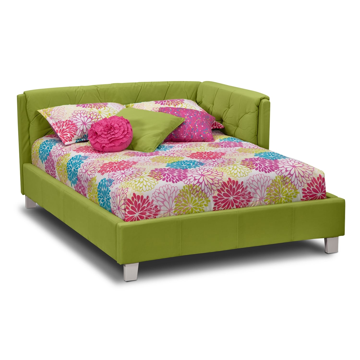 Kids Furniture - Jordan Full Corner Bed - Green