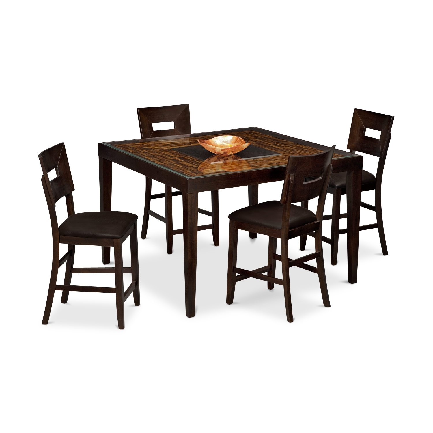 Dining Room Furniture - Cyprus II 5 Pc. Counter-Height Dinette
