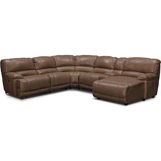 St. Malo 6-Piece Power Reclining Sectional with Right-Facing Chaise - Taupe