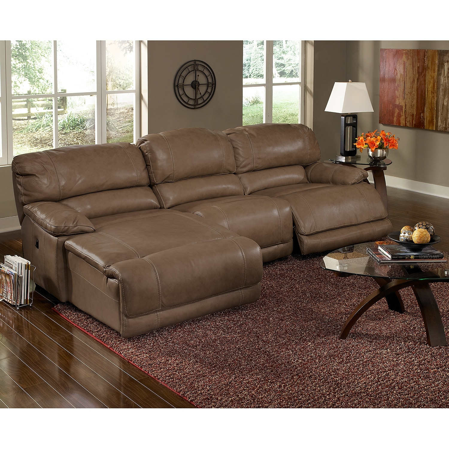 St Malo 3 Piece Power Reclining Sectional With Left