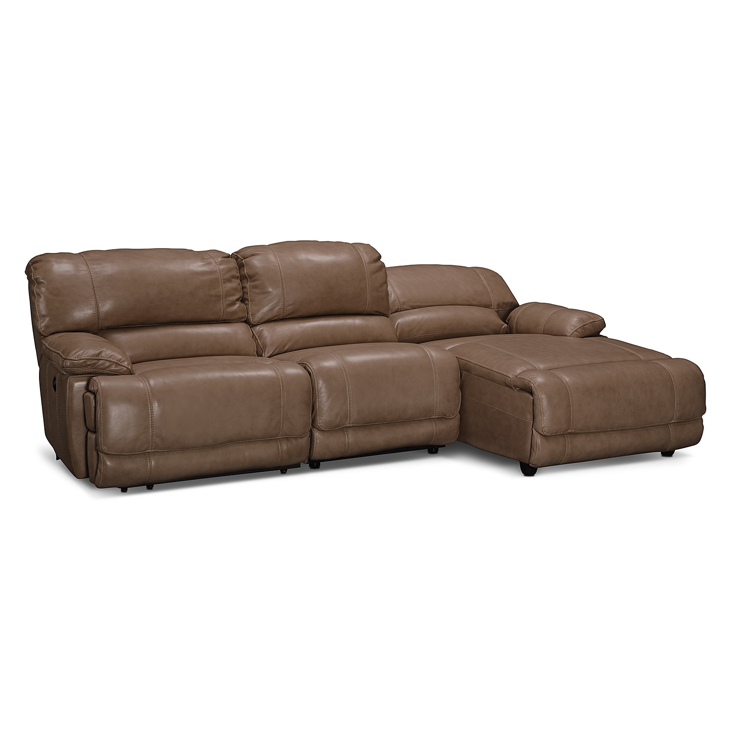 St malo 3 piece power reclining sectional with right for American signature furniture commercial chaise