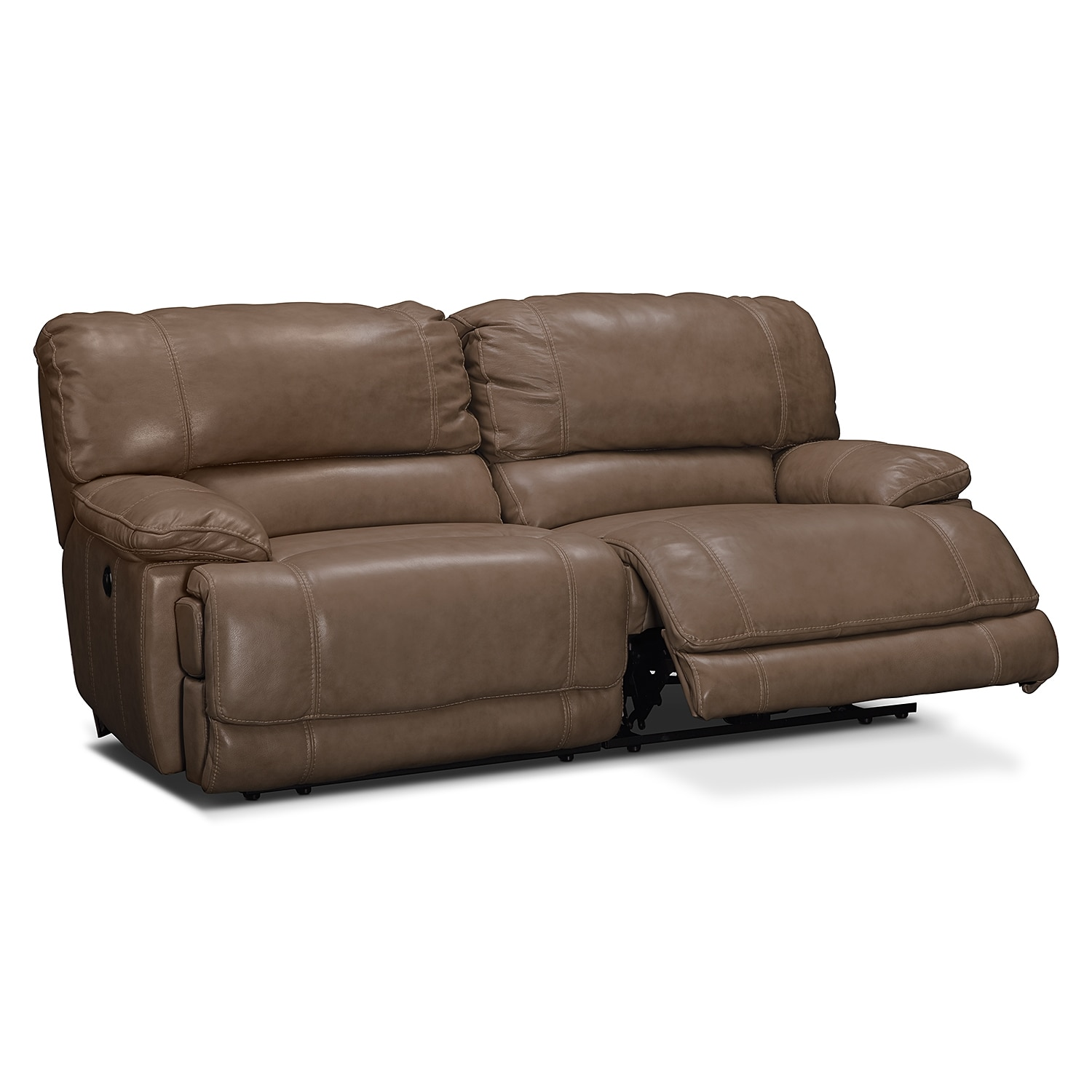 st malo power reclining sofa taupe american signature furniture. Black Bedroom Furniture Sets. Home Design Ideas