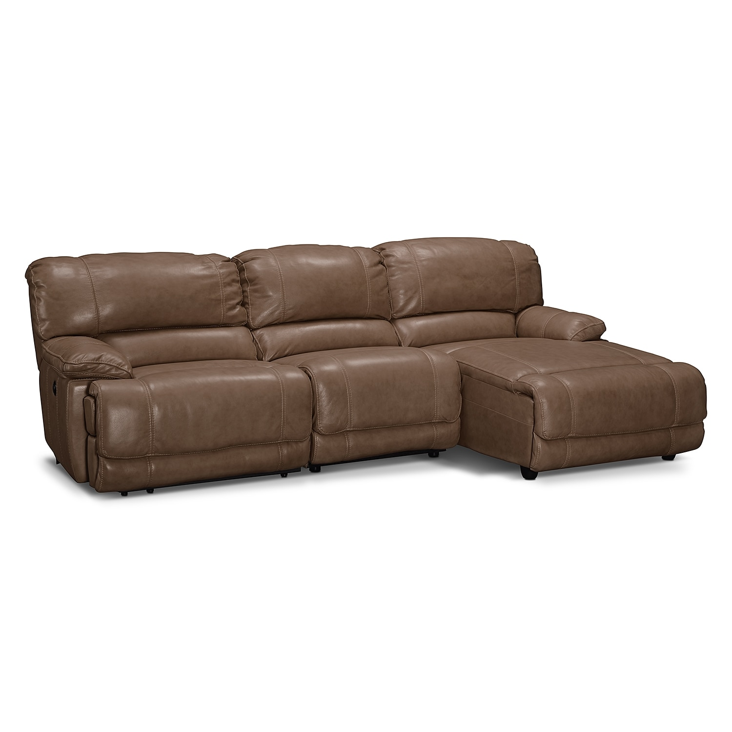 St malo 3 piece power reclining sectional with right for Alexander sectional sofa chaise