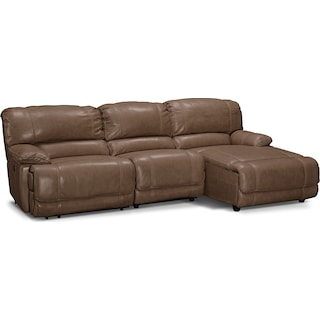 St. Malo 3-Piece Power Reclining Sectional with Right-Facing Chaise - Taupe