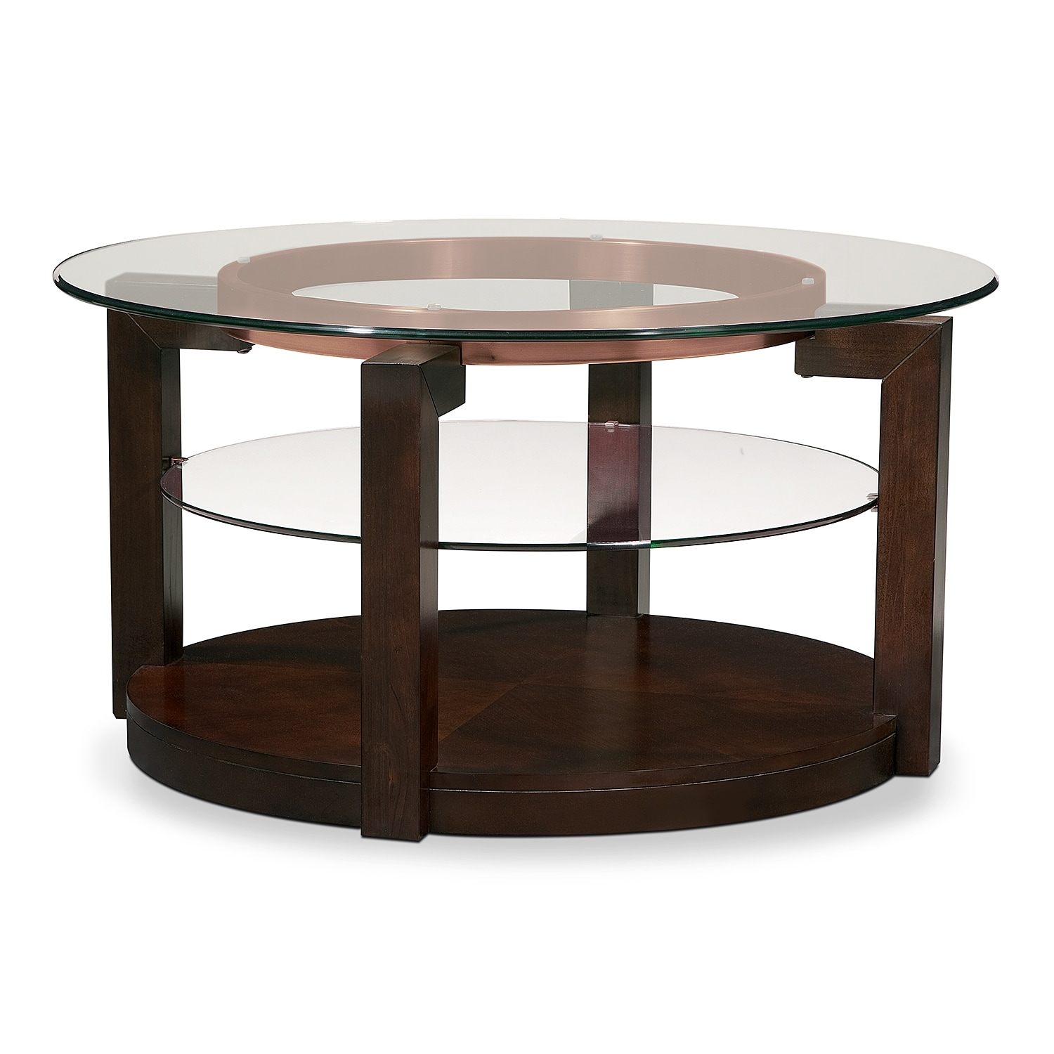 Coffee tables living room tables american signature for Cocktail table with 4 benches