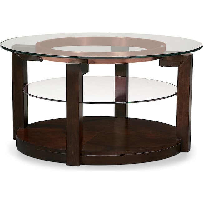 Accent and Occasional Furniture - Auburn Cocktail Table - Merlot