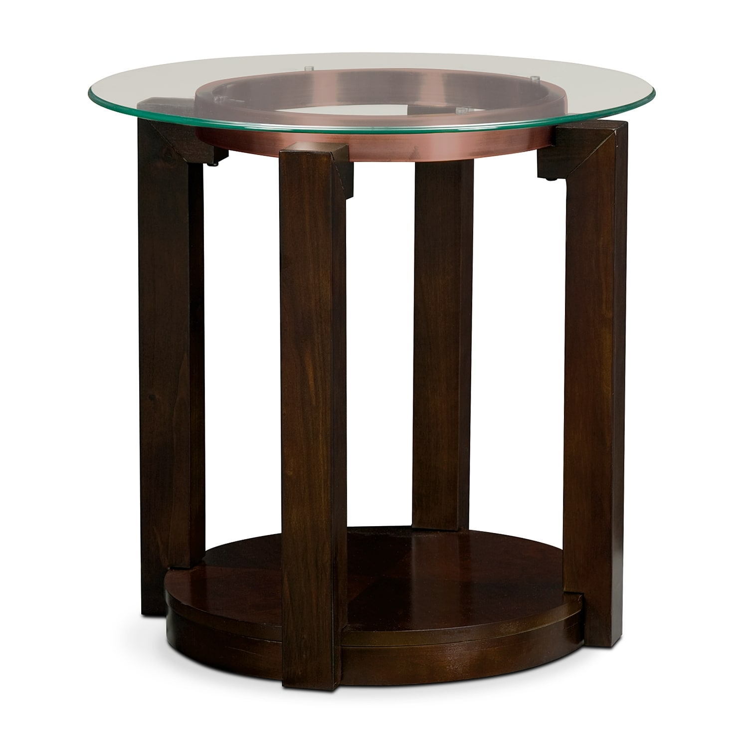 Accent and Occasional Furniture - Auburn End Table - Merlot