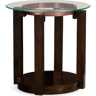 Auburn End Table - Merlot