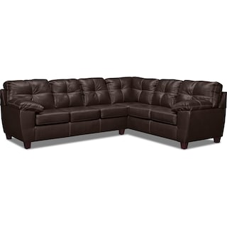 Ricardo 2-Piece Sectional with Right-Facing Sofa - Brown