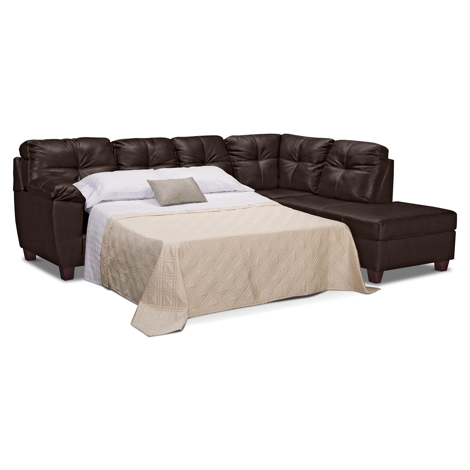 Ricardo 2 Piece Innerspring Sleeper Sectional with Right Facing