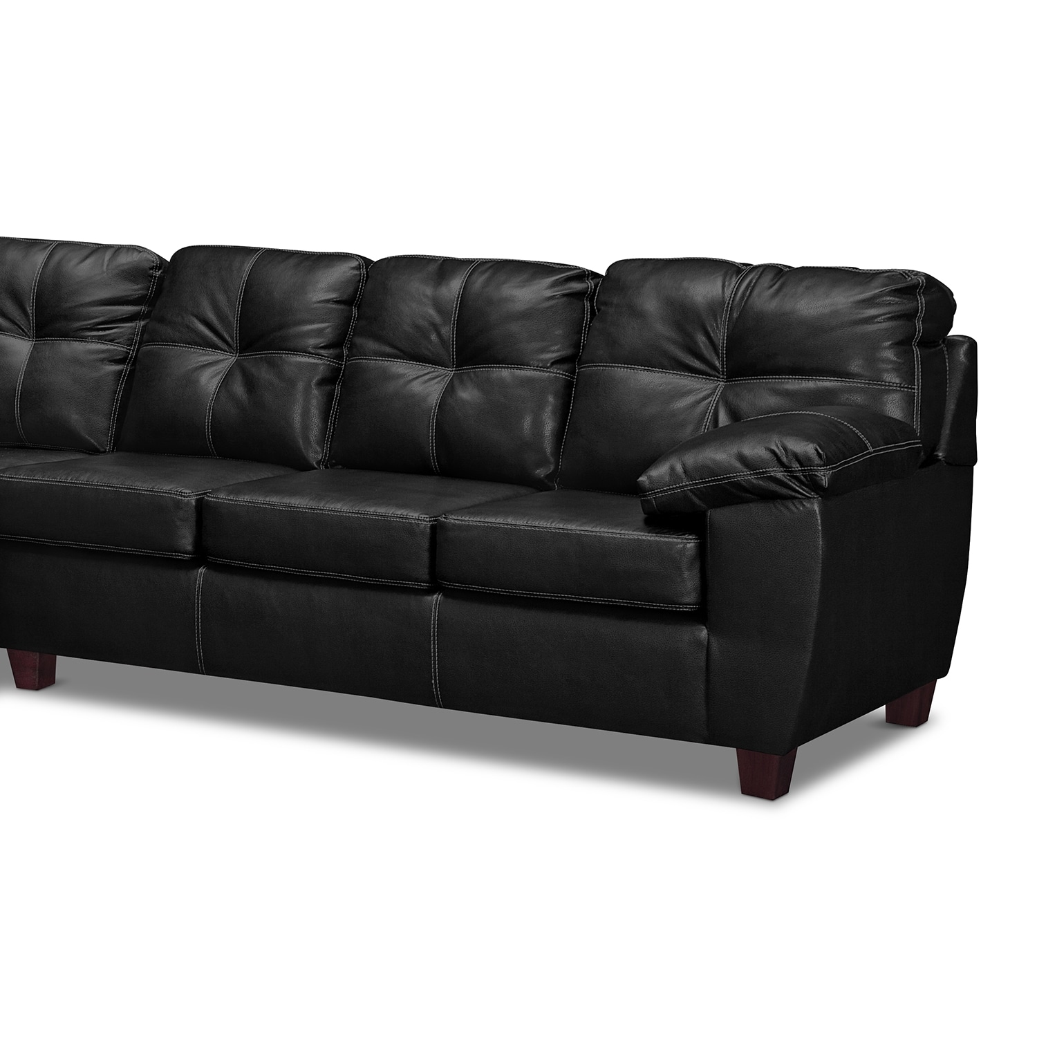 Ricardo 2 piece sectional with left facing chaise onyx for 2 piece sectionals with chaise