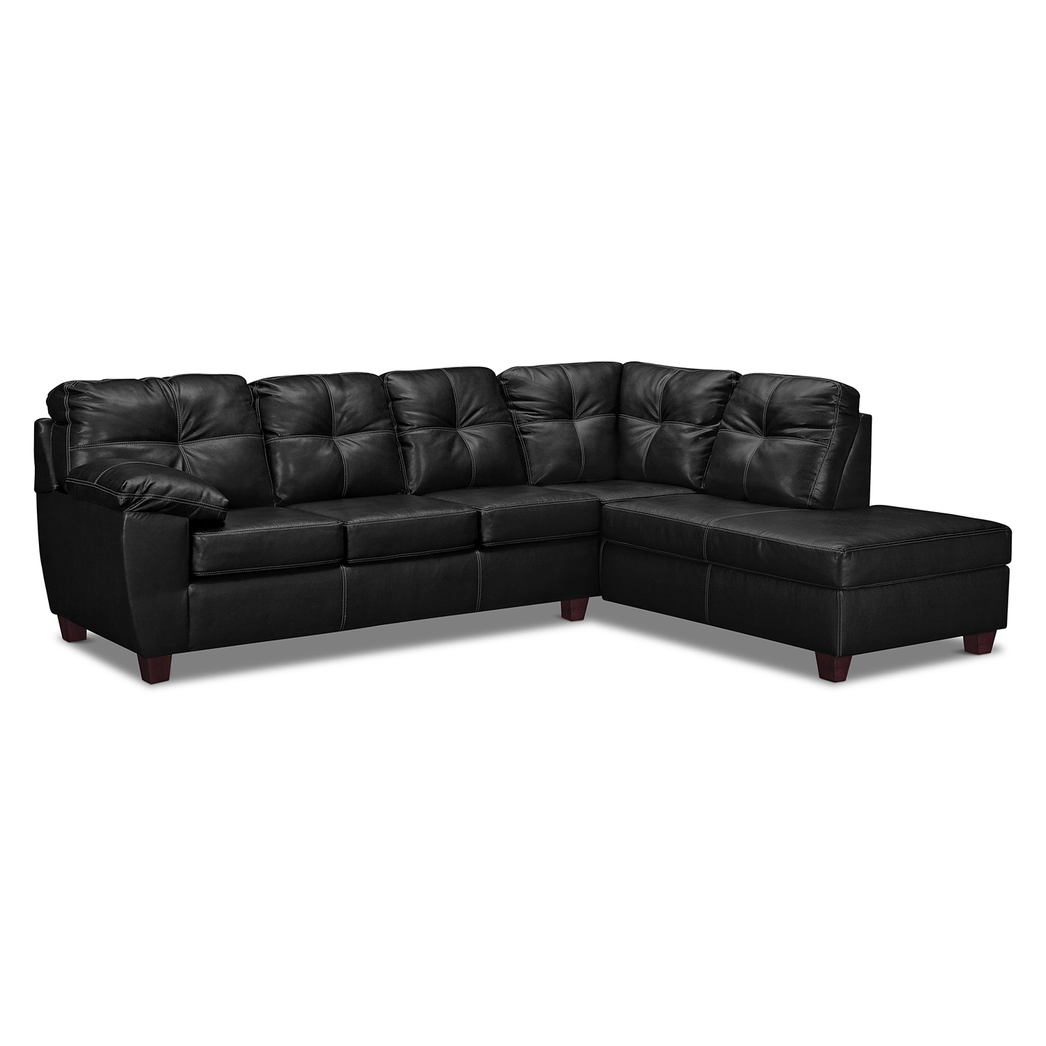 Ricardo 2 piece sectional with right facing chaise onyx for 2 piece sectionals with chaise