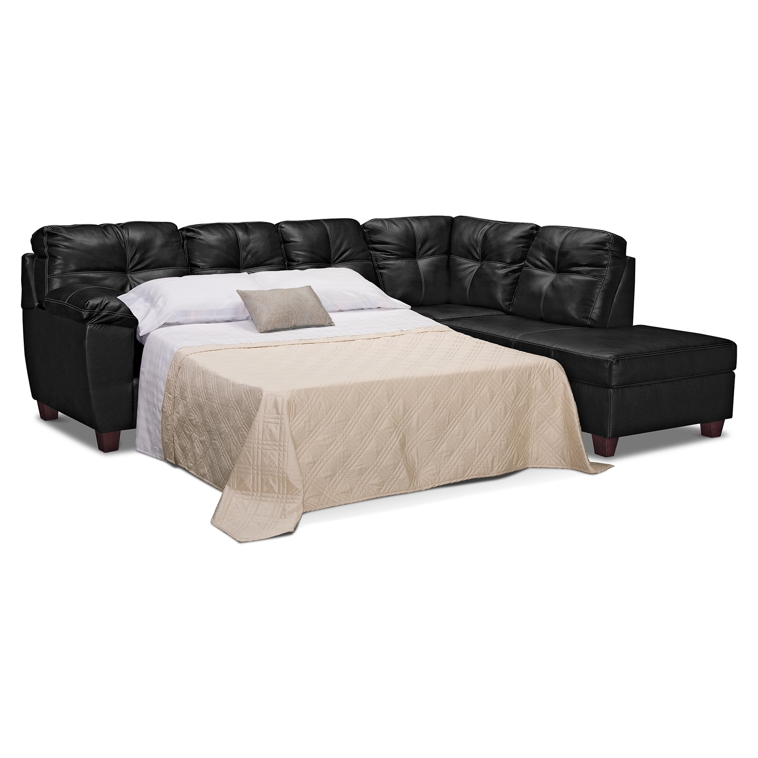 Ricardo 2 piece innerspring sleeper sectional with right for 2 piece sectional sofa with chaise