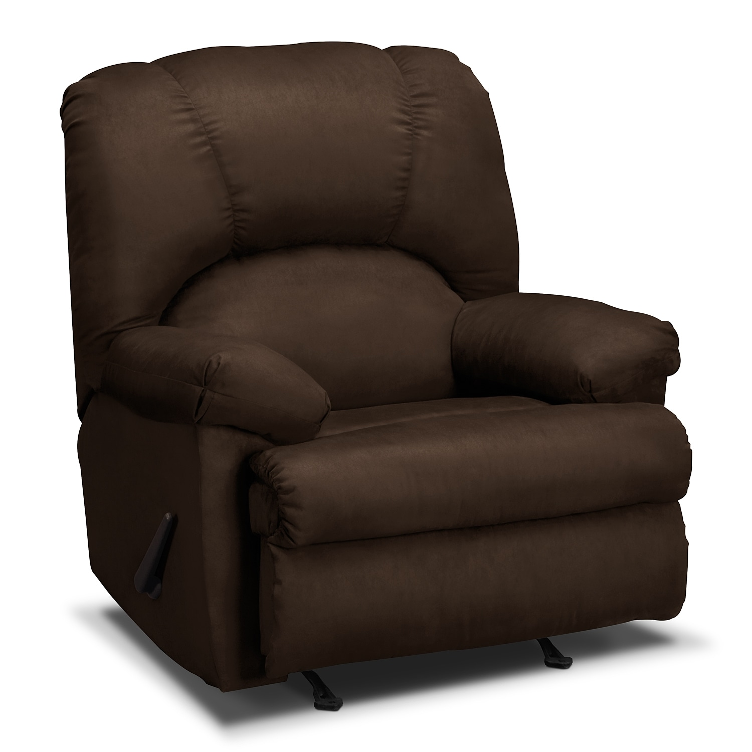 Living Room Furniture - Quincy Rocker Recliner - Chocolate