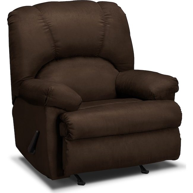 Living Room Furniture - Quincy Rocker Recliner - Chocolate