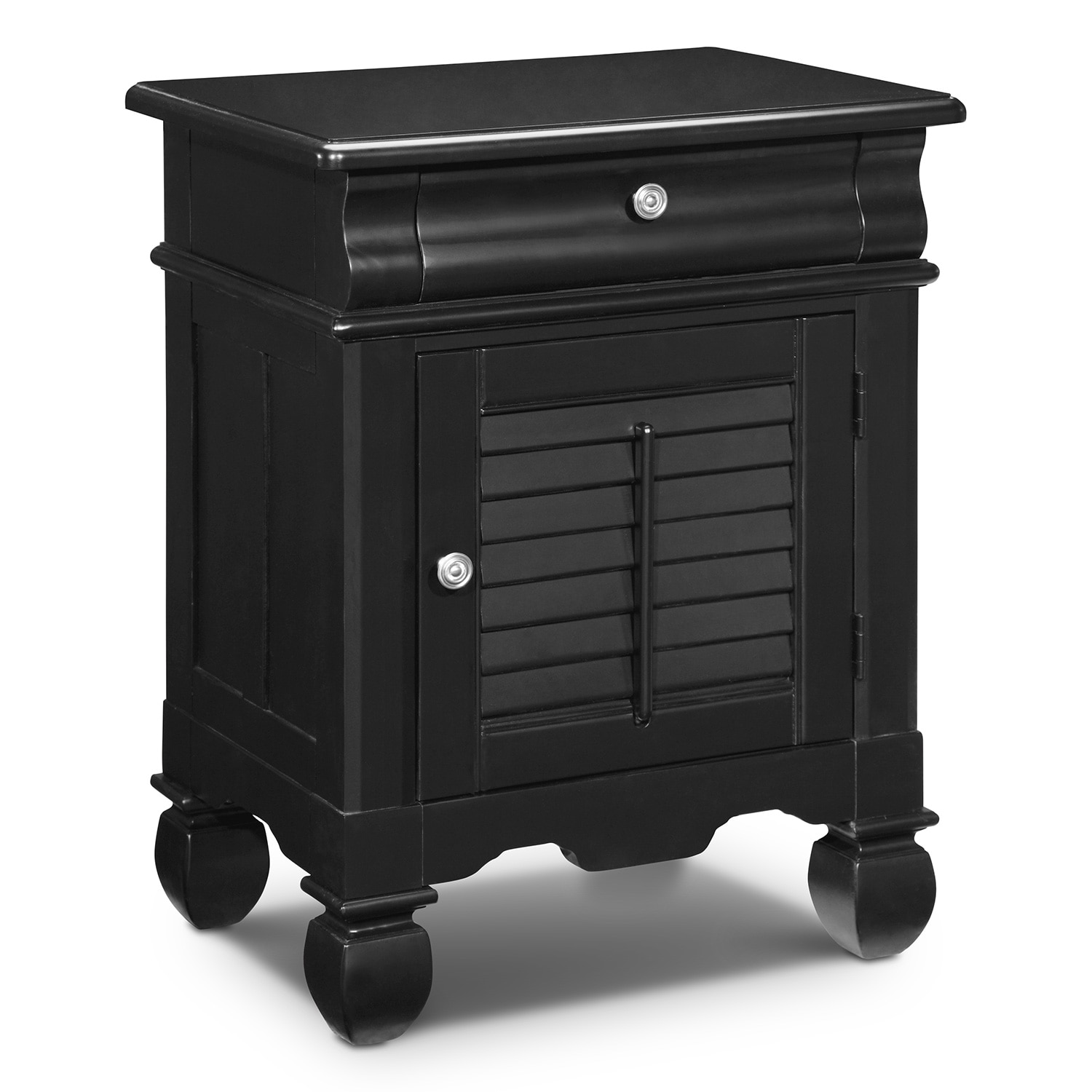 Bedroom Furniture - Plantation Cove Door Nightstand - Black