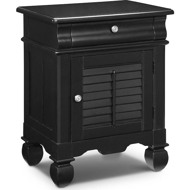 Bedroom Furniture - Plantation Cove Door Nightstand - Black
