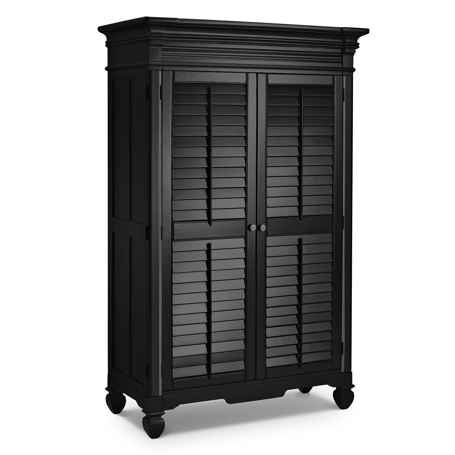 Plantation Cove Black Armoire