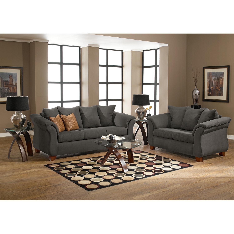 Adrian Sofa Graphite American Signature Furniture