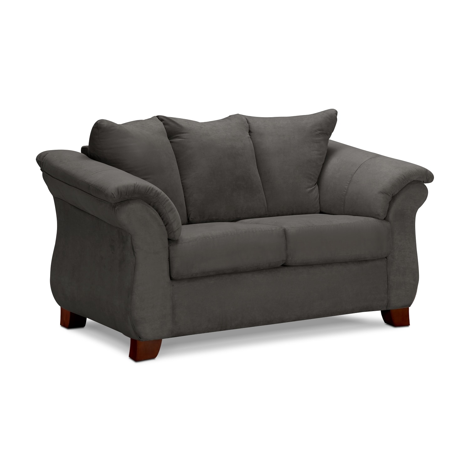 Living Room Furniture - Adrian Loveseat - Graphite