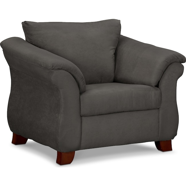Living Room Furniture - Adrian Chair - Graphite
