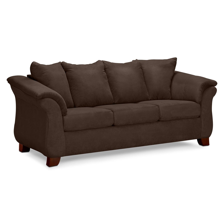 Living Room Furniture - Adrian Sofa - Chocolate