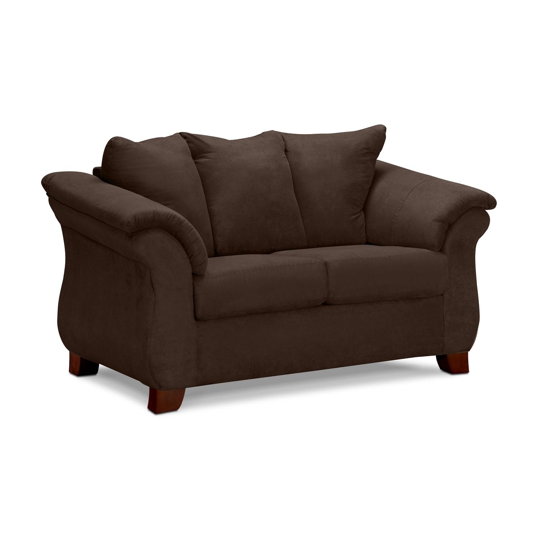Living Room Furniture - Adrian Loveseat - Chocolate
